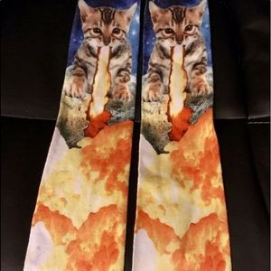 Juniors Cat knee socks